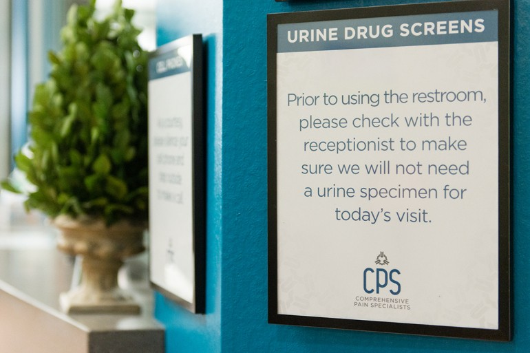 liquid-gold-19_1170-A-sign-hangs-in-the-lobby-of-the-Comprehensive-Pain-Specialists-clic-in-Hendersonville-Tenn.-advising-patients-about-urine-drug-screening.-Hedi-de-Marco---KHN